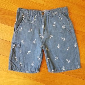Appaman Boys Chambray Trouser Shorts w/ Anchors